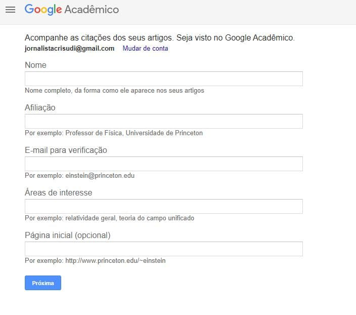 perfil do google academico